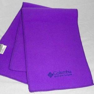 Purple Columbia Fleece Winter Scarf